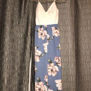 Pants - Summer Floral Jumpsuit Wide Leg - Large